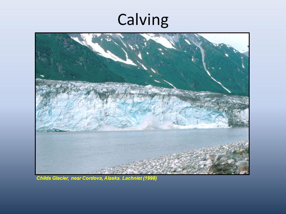 Calving Childs Glacier, near Cordova, Alaska. Lachniet (1998)