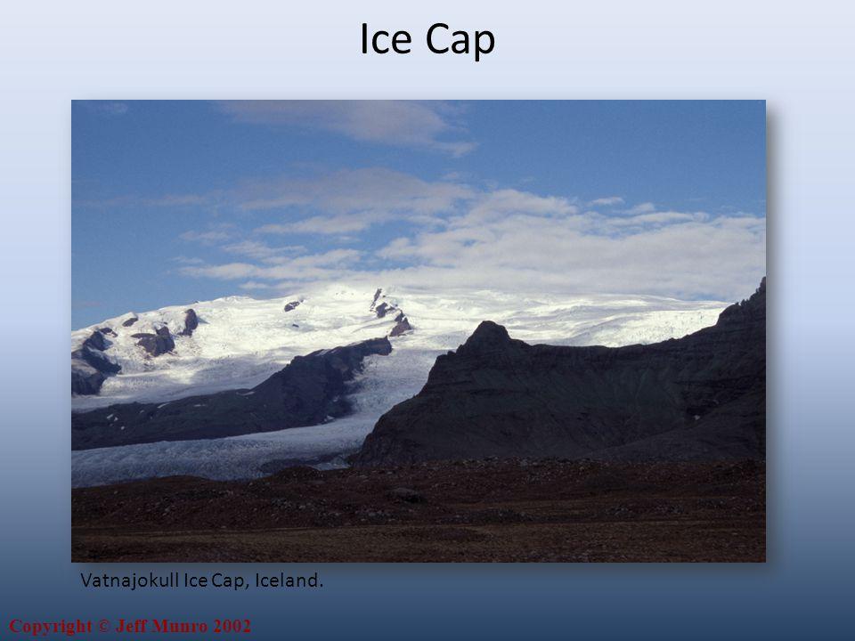 Copyright © Jeff Munro 2002 Vatnajokull Ice Cap, Iceland. Ice Cap