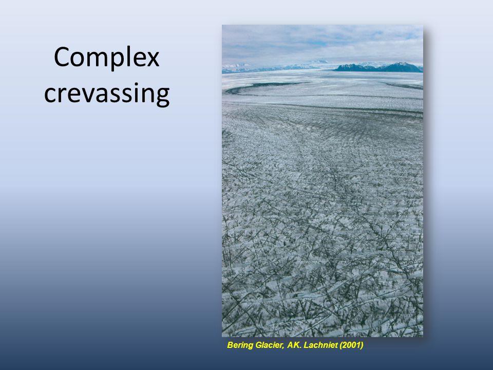Complex crevassing Bering Glacier, AK. Lachniet (2001)