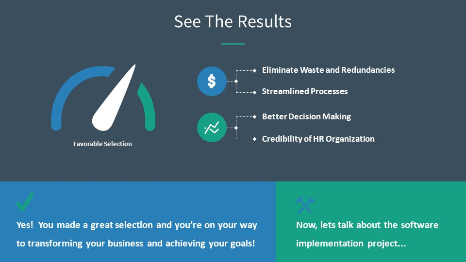 Yes! You made a great selection and you're on your way to transforming your business and achieving your goals! Now, lets talk about the software imple