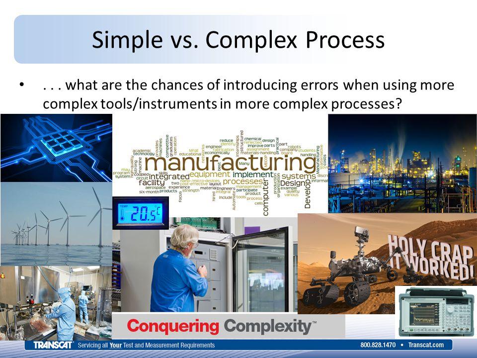Simple vs. Complex Process...