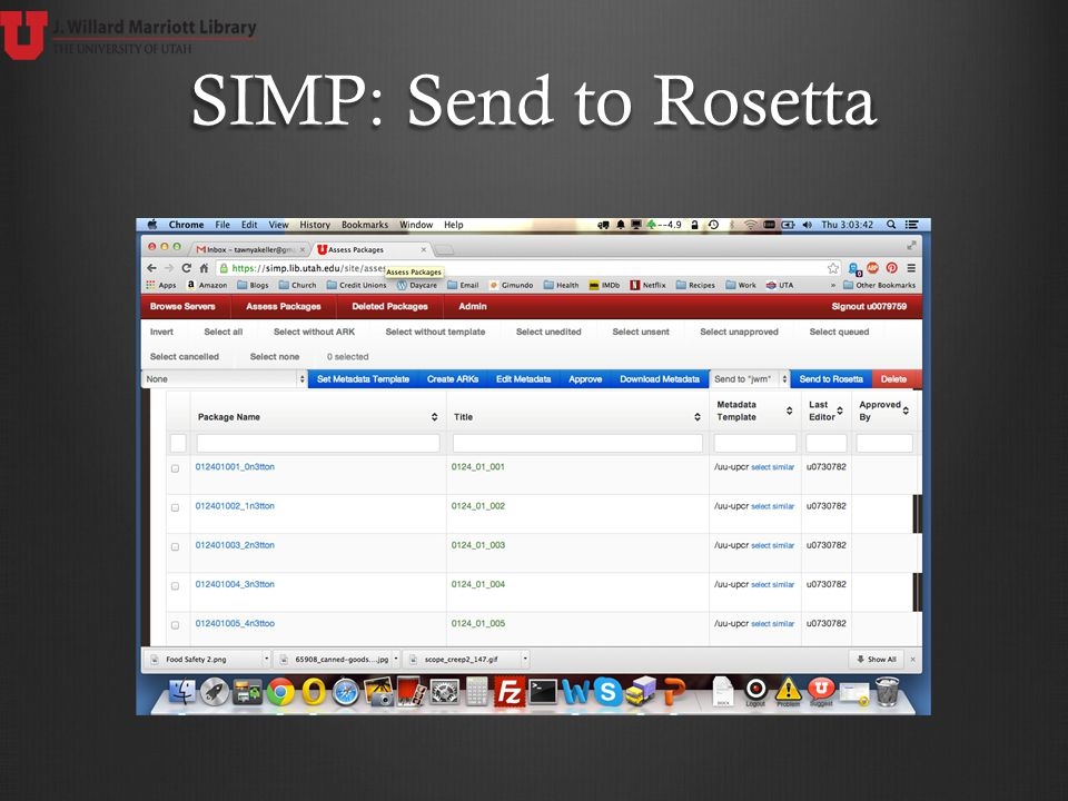 SIMP: Send to Rosetta