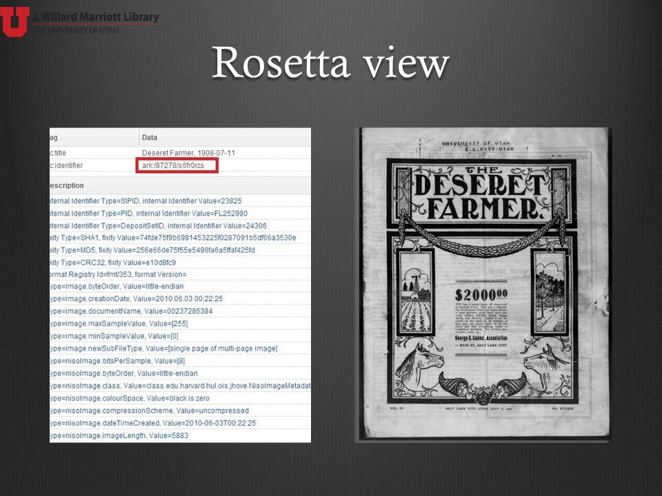Rosetta view