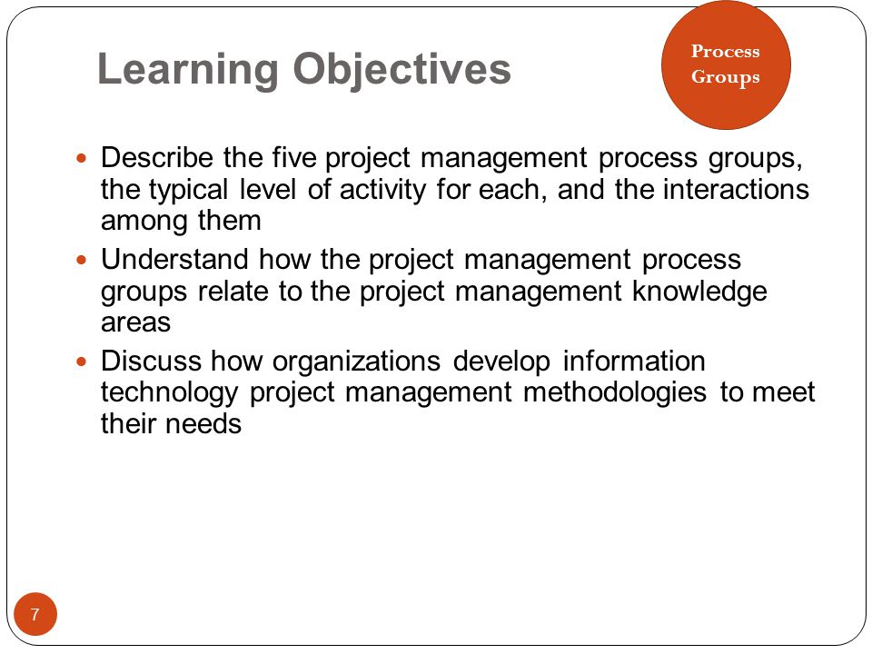 Learning Objectives 18 Describe an overall framework for project integration management as it relates to the other project management knowledge areas and the project life cycle Describe project plan development, including project plan content, using guidelines and templates for developing plans, and performing a stakeholder analysis to help manage relationships Explain project plan execution, its relationship to project planning, the factors related to successful results, and tools and techniques to assist in project plan execution Understand the integrated change control process, planning for and managing changes on information technology projects, and developing and using a change control system Describe how software can assist in project integration management Integration