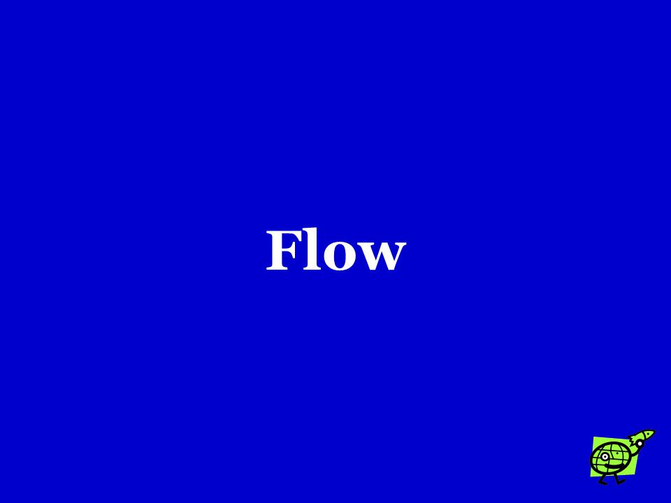 The volume of water that moves past a point on a river in a given time is called the river's …. a.Flow b.Load c.Turbulence
