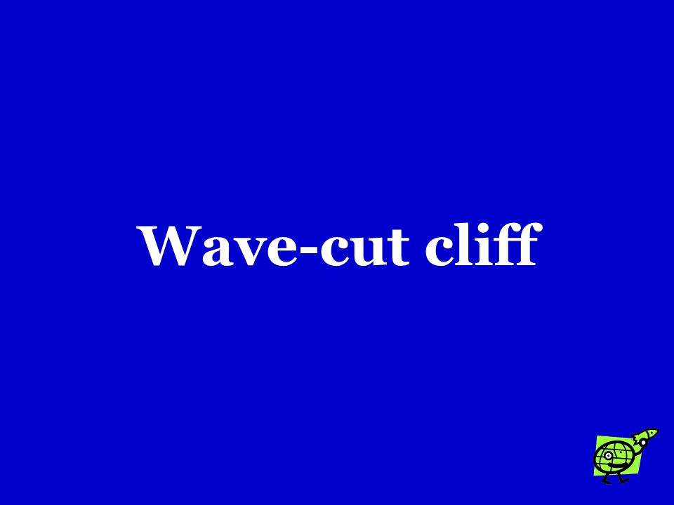 If waves erode the soft rock along the base of a steep coast, the result may eventually be a landform called a …. a.Fiord b.Headland c.Wave-cut cliff