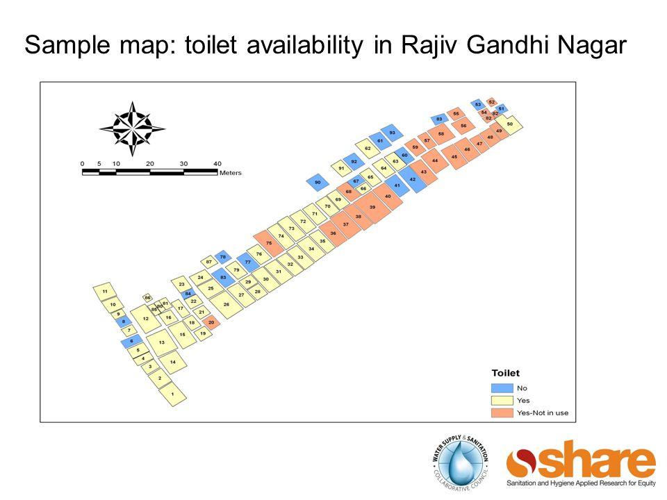 Sample map: toilet availability in Rajiv Gandhi Nagar