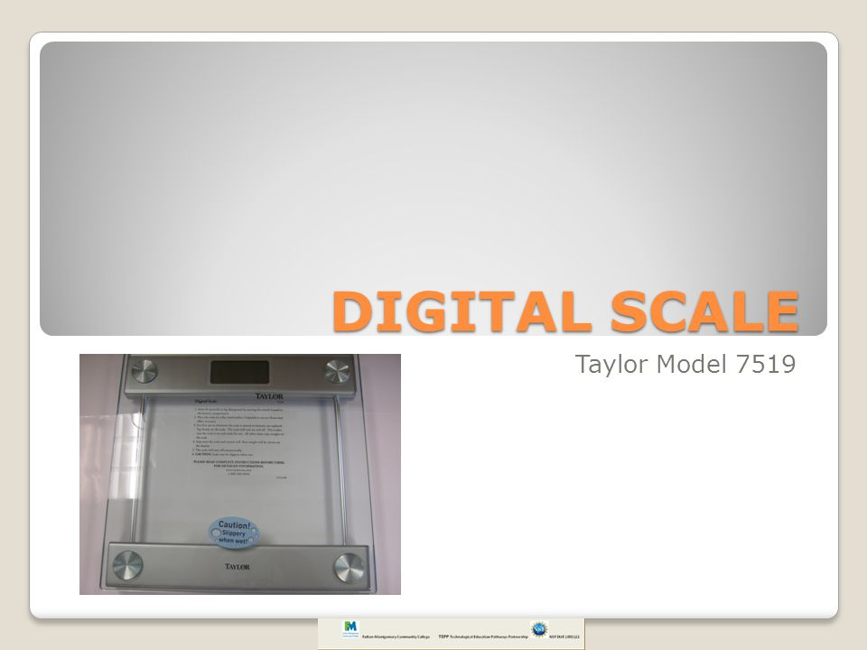 DIGITAL SCALE Taylor Model 7519