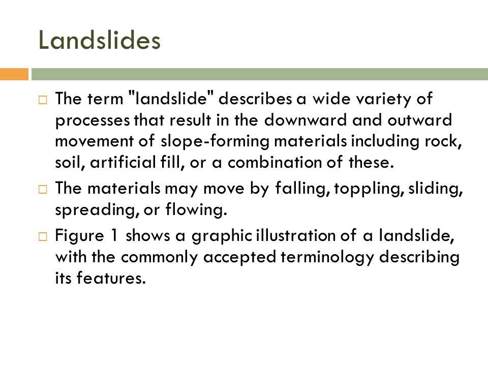 Landslides  The term