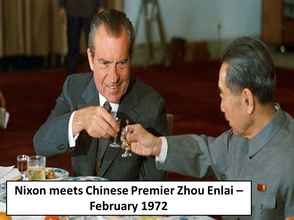 Nixon meets Chinese Premier Zhou Enlai – February 1972