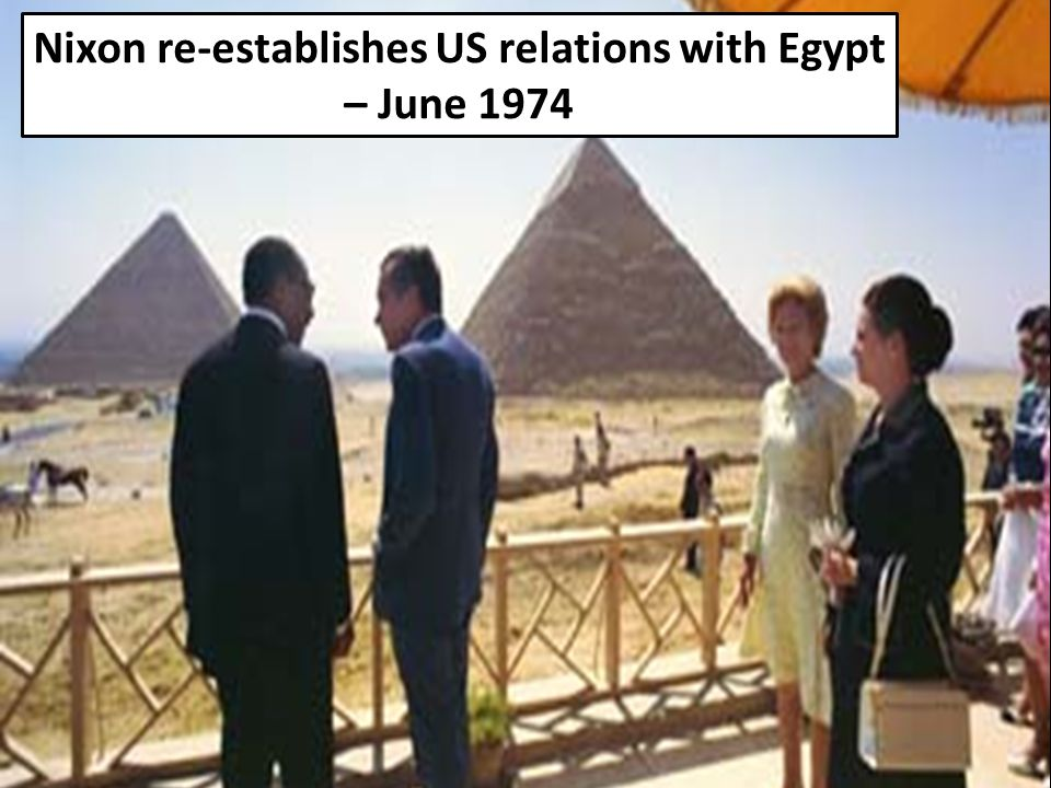 Nixon re-establishes US relations with Egypt – June 1974