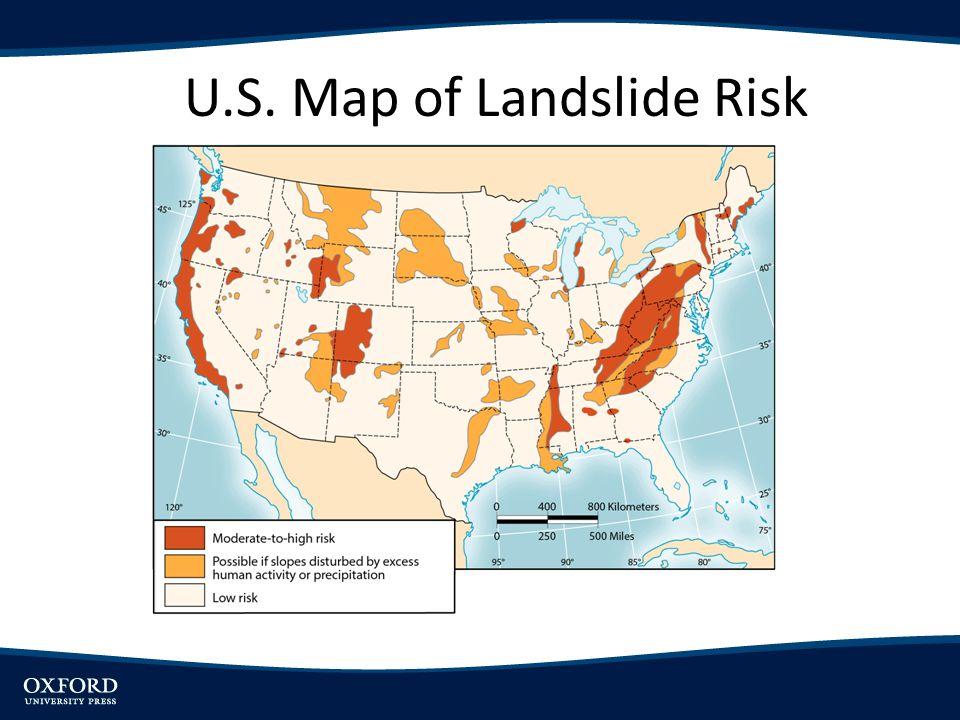 U.S. Map of Landslide Risk