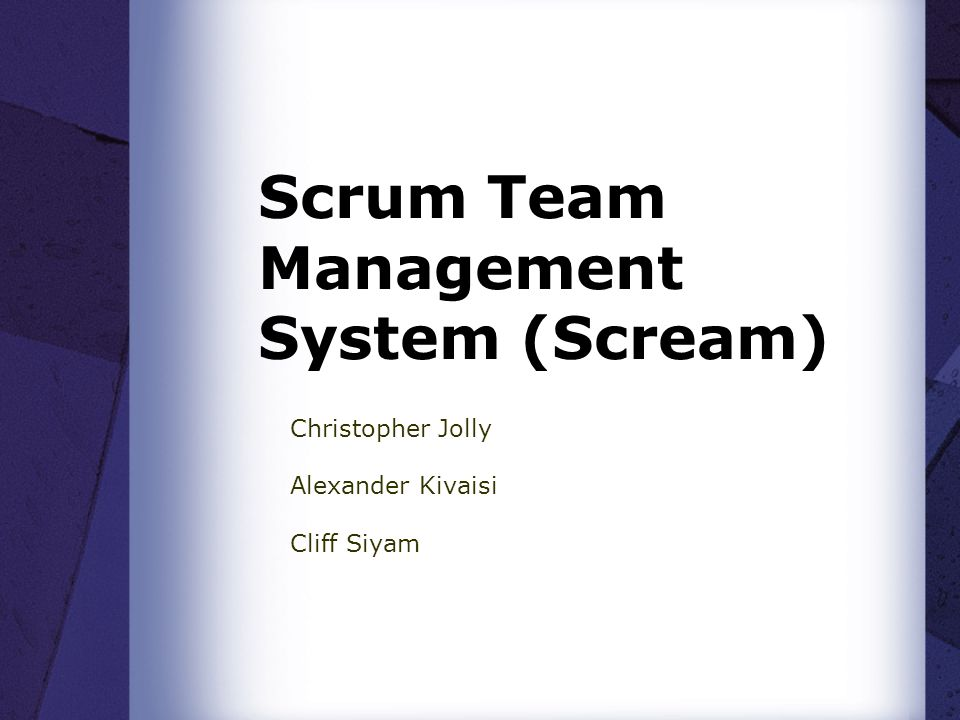 Outline Brief description about Scrum Problem Statement Proposed Solution Project Plan Resources Risks Management Testing Strategy Success Analysis Ethical, Professional and Legal issues Work Allocation