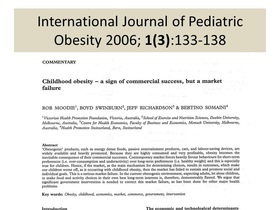International Journal of Pediatric Obesity 2006; 1(3):133-138