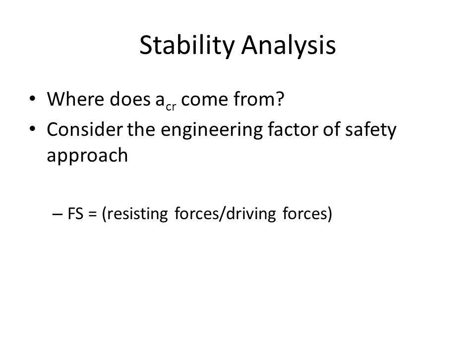 Stability Analysis Where does a cr come from.