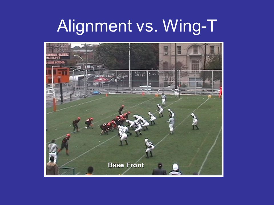 Alignment vs. Wing-T Base Front