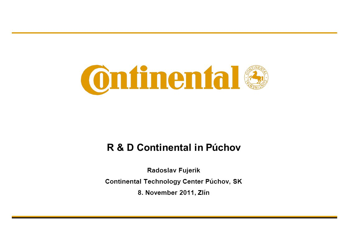 M. Haufe/ Product Development Commercial Vehicles © Continental AG Thank you for your interest