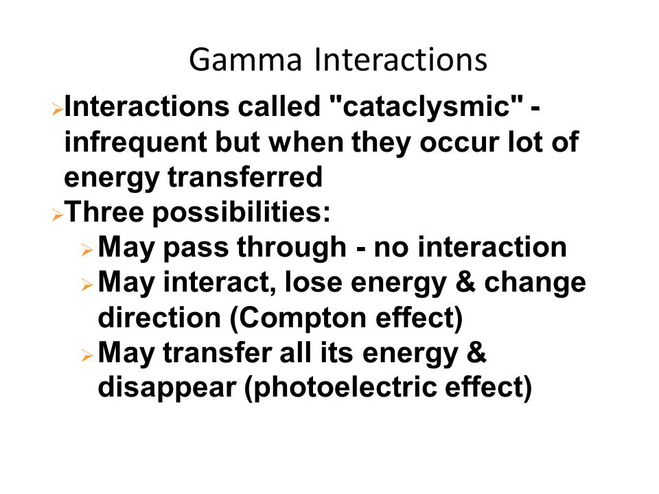 Gamma Interactions  Interactions called