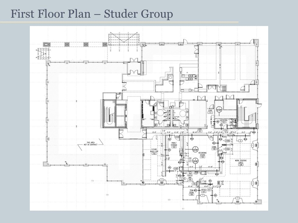 First Floor Plan – Studer Group