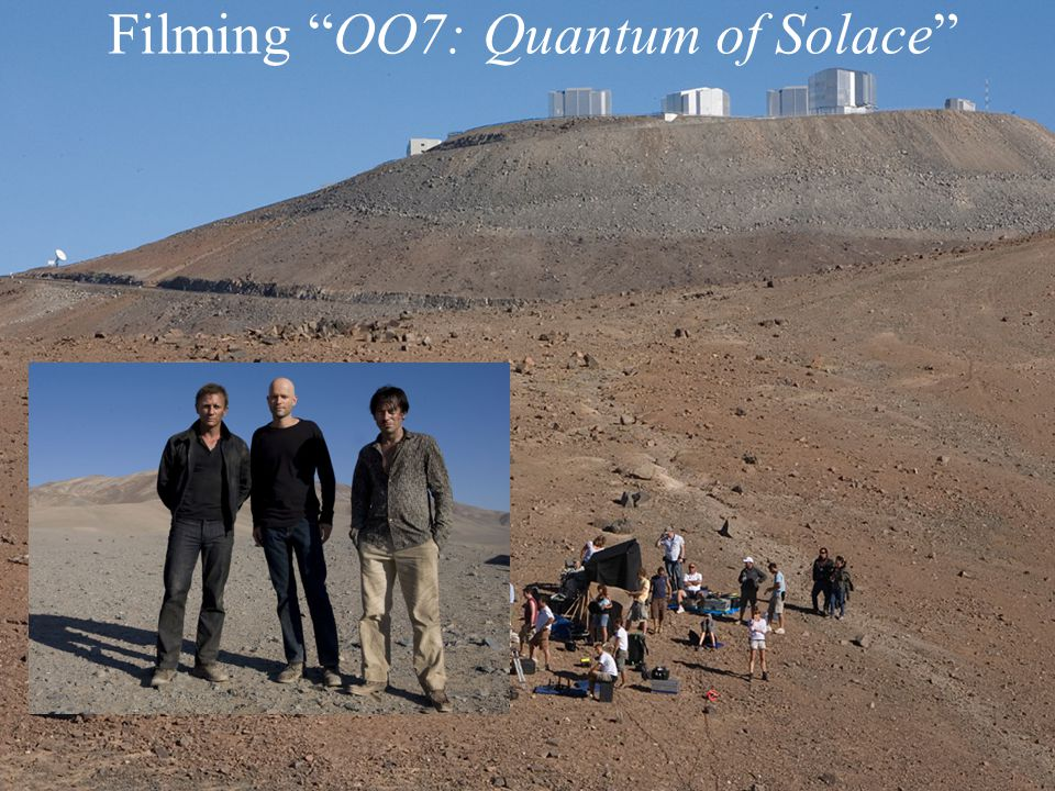 Filming OO7: Quantum of Solace