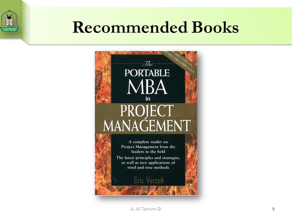 Recommended Books A. Al-Tamimi ©9