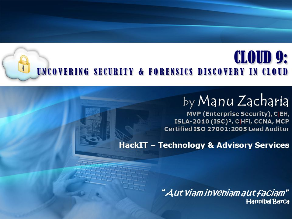 Mixed Responses Bad guys have started using cloud based services and infrastructure for launching attacks Cloud do provide a good platform for incidence response and forensics investigations CLOUD FORENSICS 192