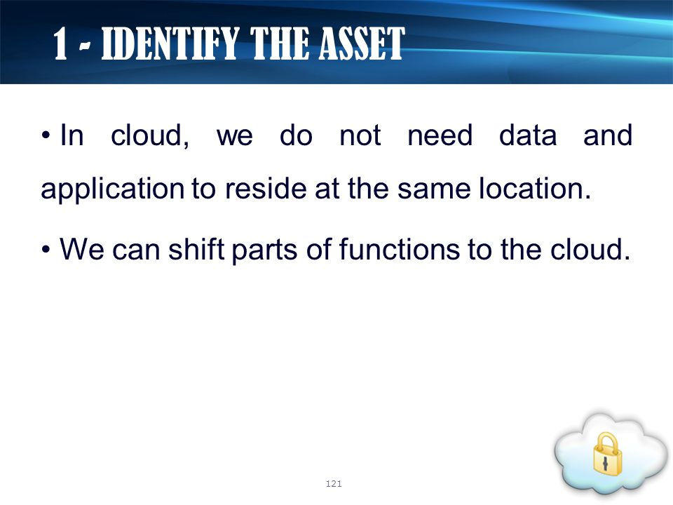 In cloud, we do not need data and application to reside at the same location.