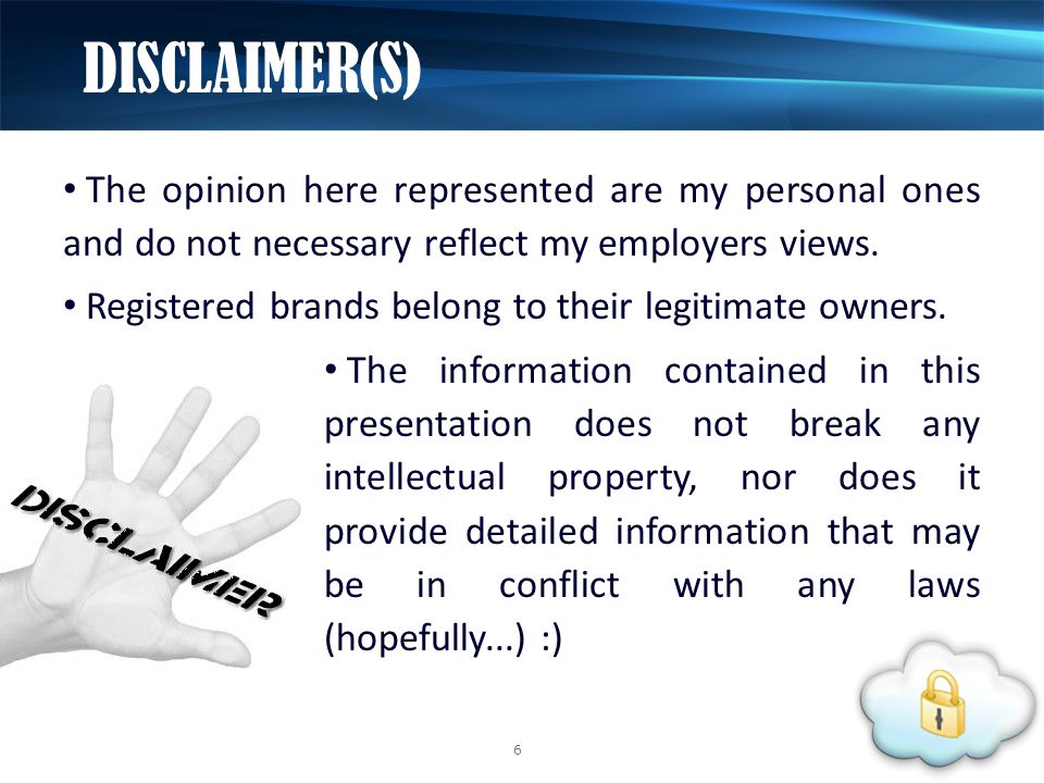 The opinion here represented are my personal ones and do not necessary reflect my employers views.