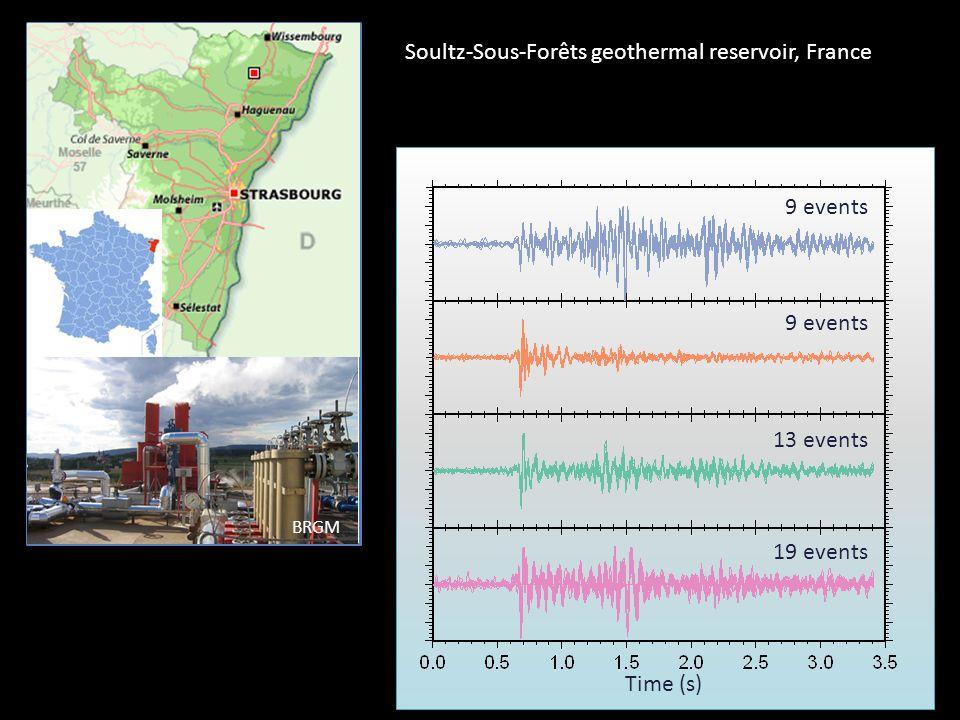 Time (s) 9 events 13 events 19 events Soultz-Sous-Forêts geothermal reservoir, France BRGM