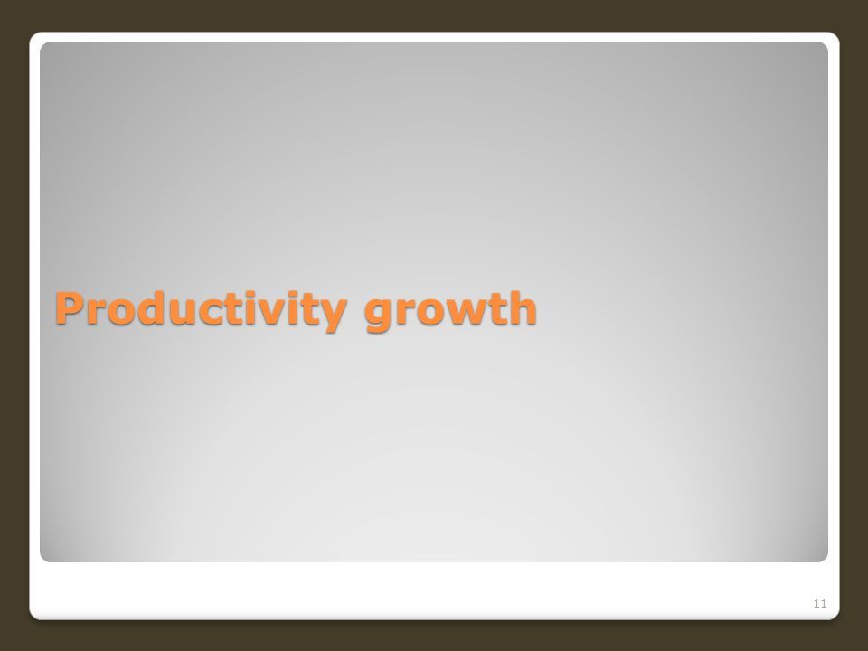 Productivity growth 11