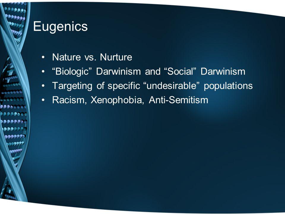 Eugenics Nature vs.