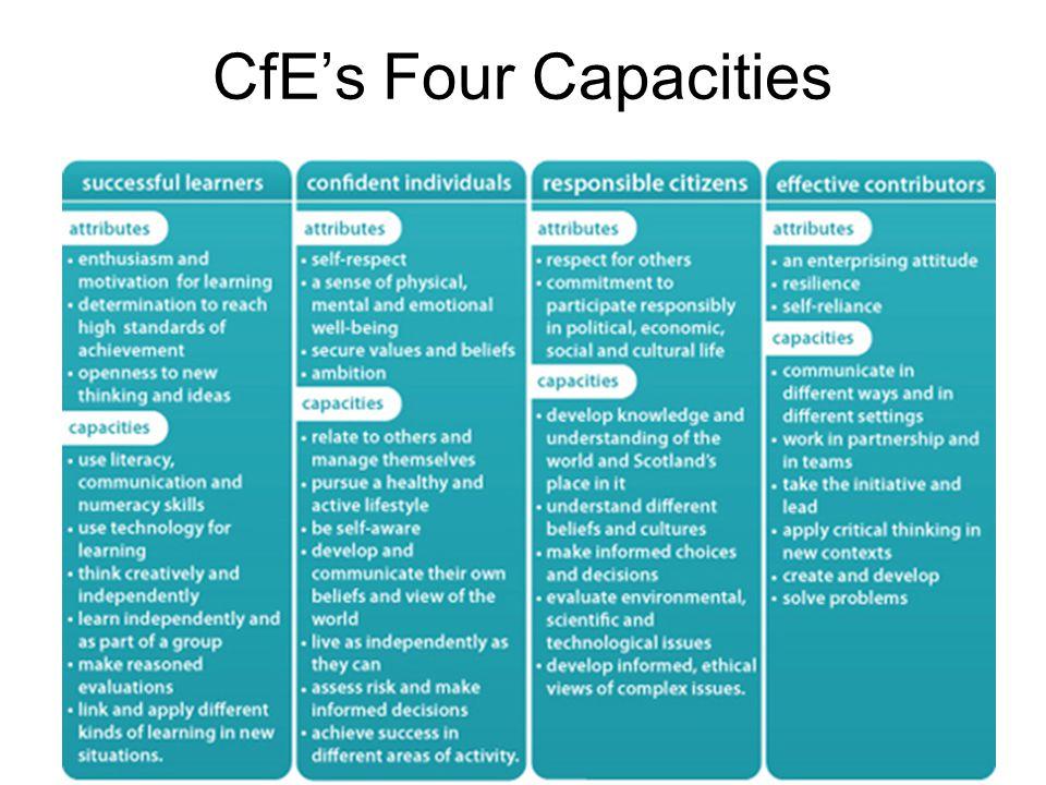 CfE's Four Capacities