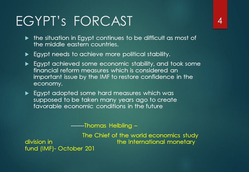 EGYPT's FORCAST  Egypt s economy is set to grow 3.3 percent this fiscal year.