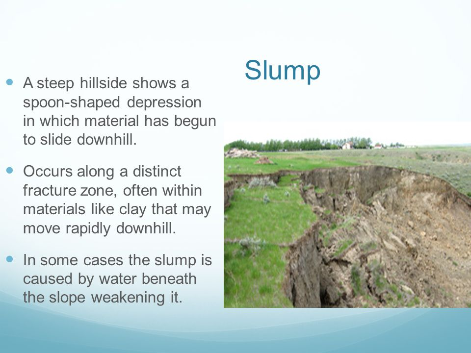 Landslides Landslides- AA geological phenomenongeological phenomenon Includes a wide range of ground movement, such as rock falls, deep failure of slo