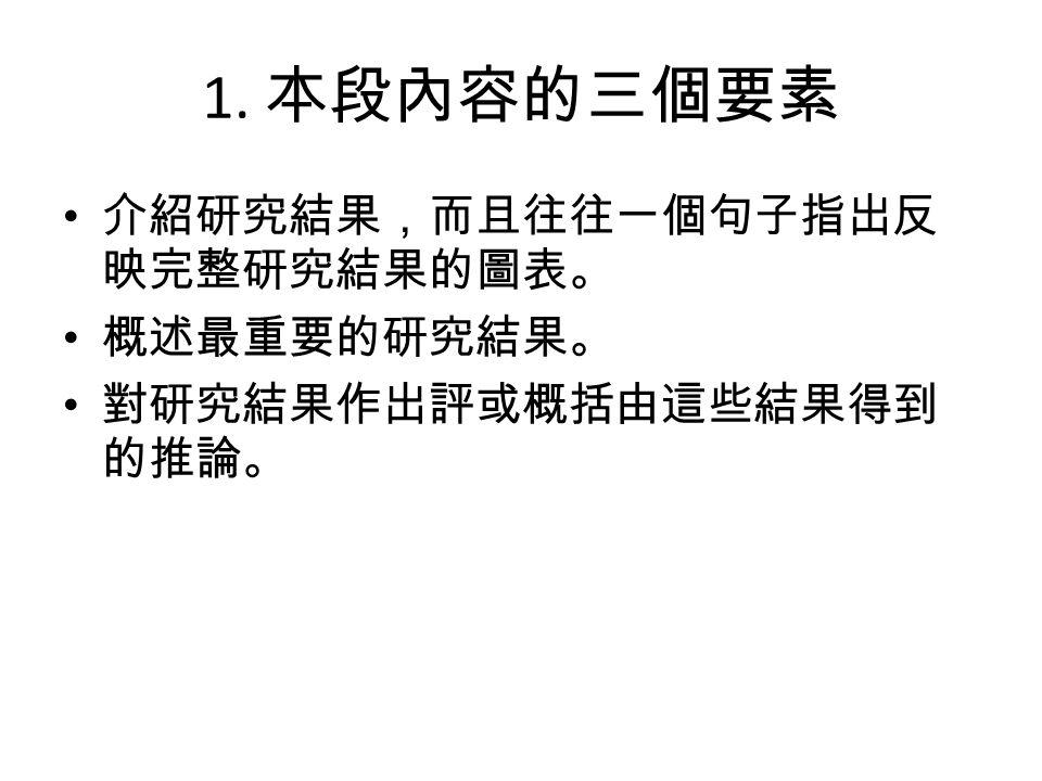 4.說明或評論研究結果 A.