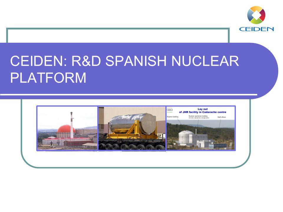 CEIDEN: R&D SPANISH NUCLEAR PLATFORM