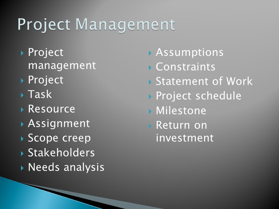 During the executing and controlling phases of a project, project work is performed (executed), progress is monitored and corrective action is taken as needed (controlled)