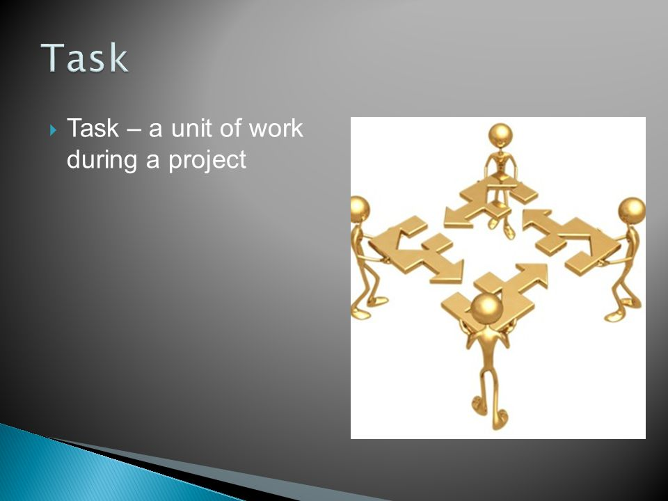  Resource – a person, department or device needed to accomplish a task