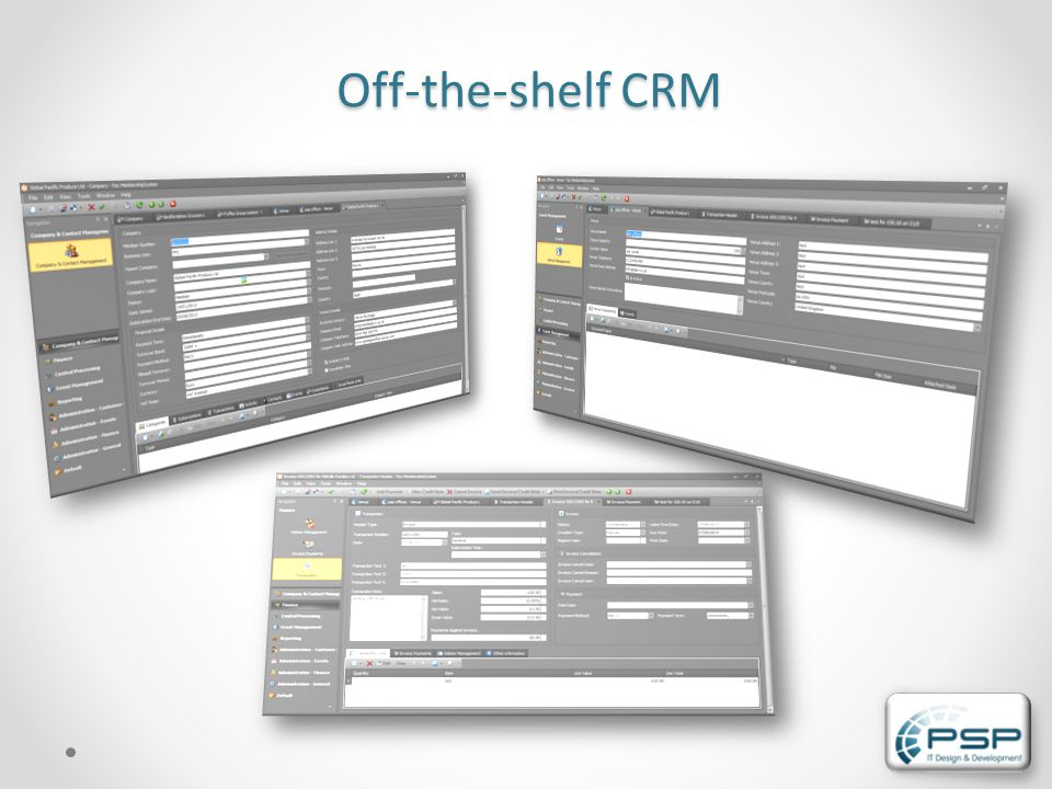 Off-the-shelf CRM
