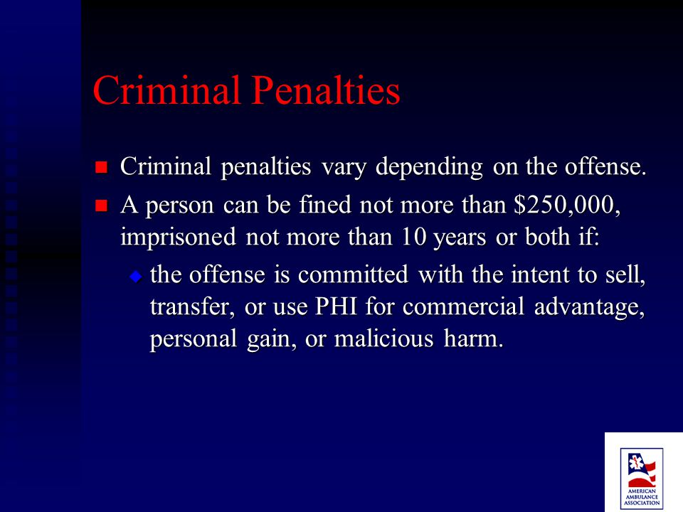 Civil Penalties Any person who violates a provision is subject to: Any person who violates a provision is subject to:  A penalty of not more than $100 for each such violation and  Total amount imposed on a person for all violations of an identical requirement or prohibition during a calendar year may not exceed $25,000.