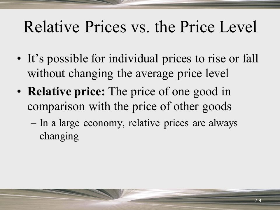 Relative Prices vs.