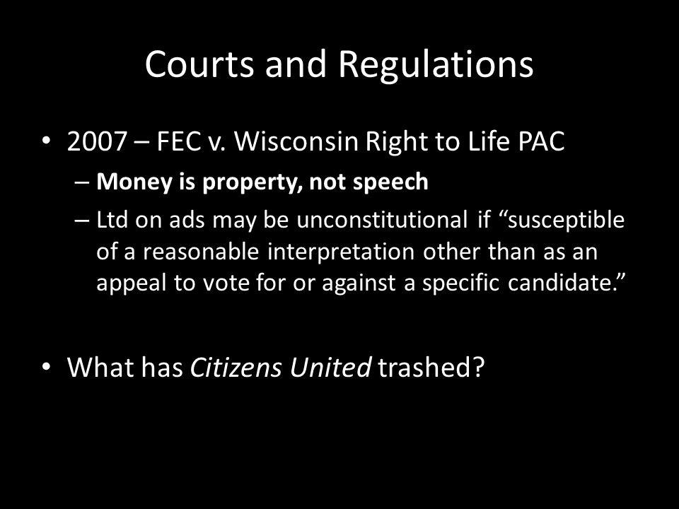 Courts and Regulations 2007 – FEC v.