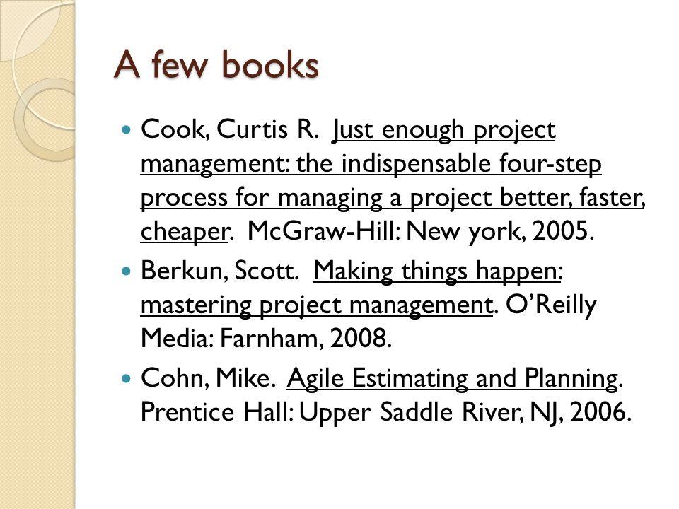 A few books Cook, Curtis R.