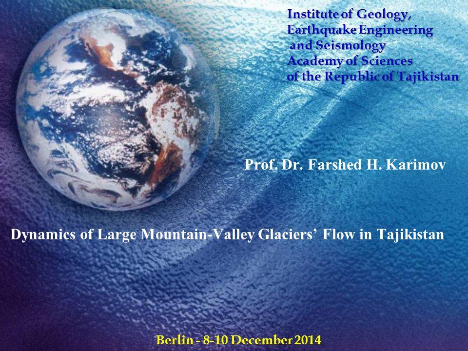 Glacier layers cross cut velocity distribution [14] Parabolic dependence of v(z) Floating plate z