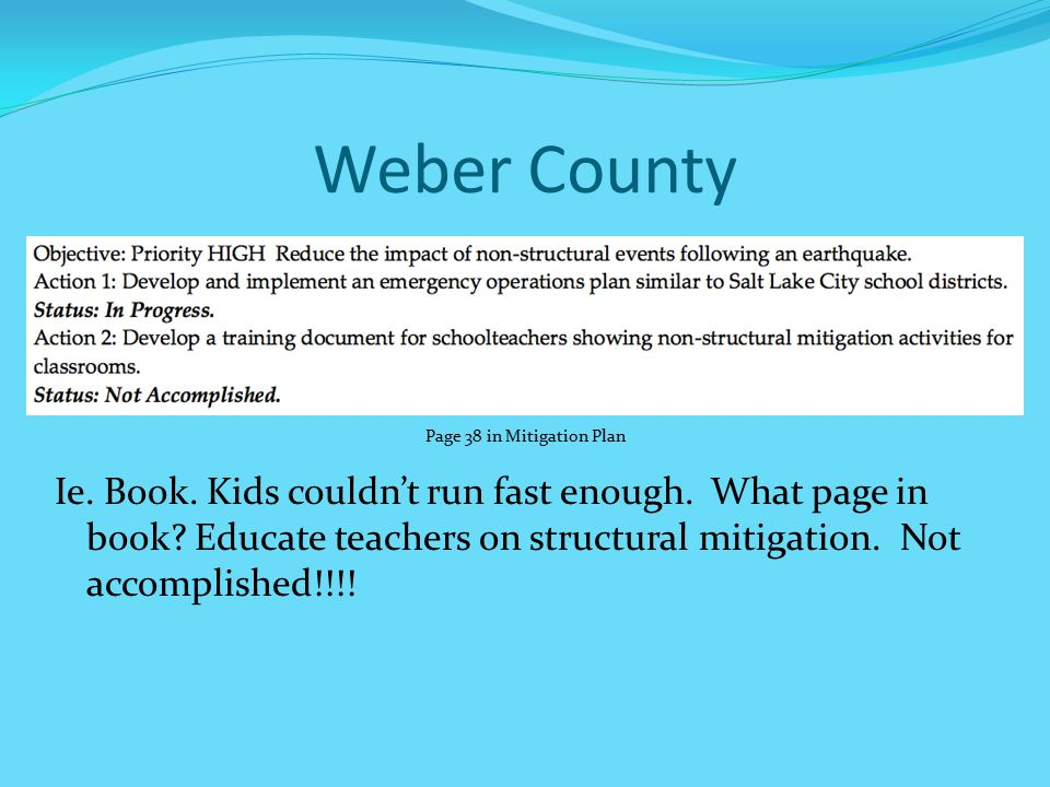 Weber County Ie.Book. Kids couldn't run fast enough.