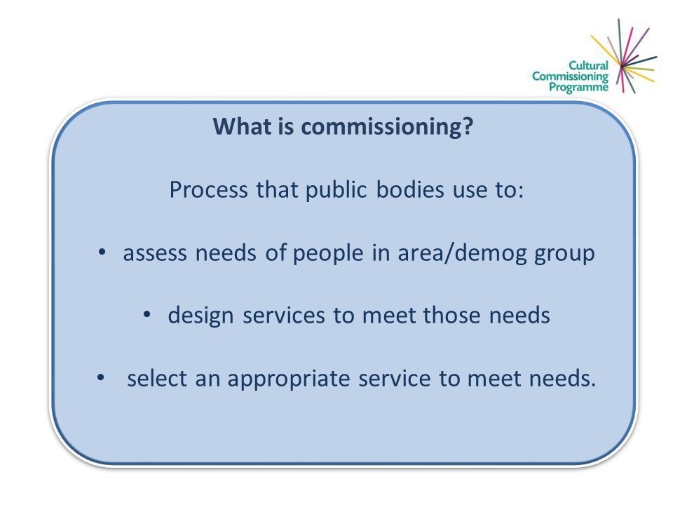 What is commissioning.