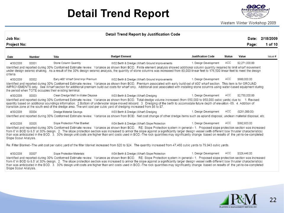 Western Winter Workshop 2009 22 Detail Trend Report