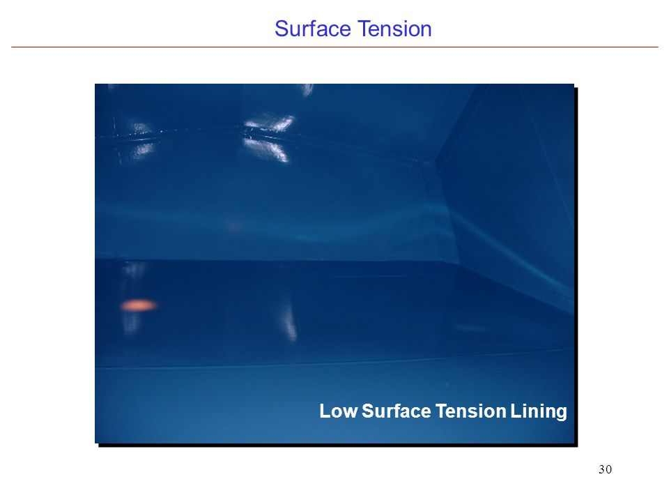 30 Surface Tension Low Surface Tension Lining