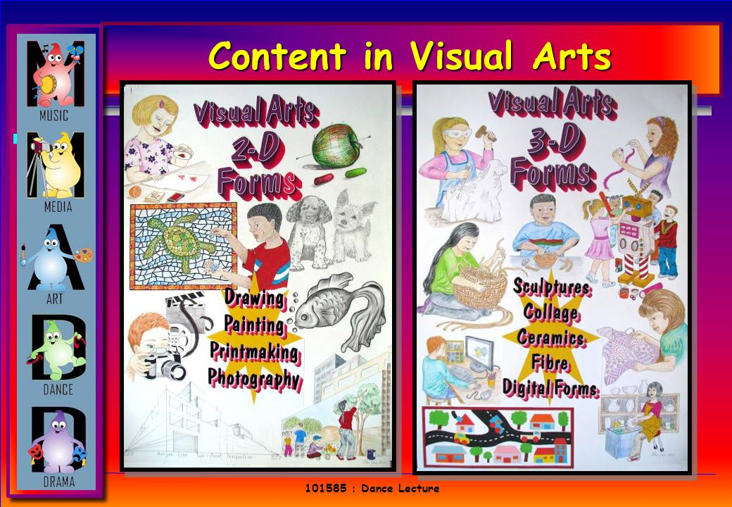 101585 : Dance Lecture Content in Visual Arts 