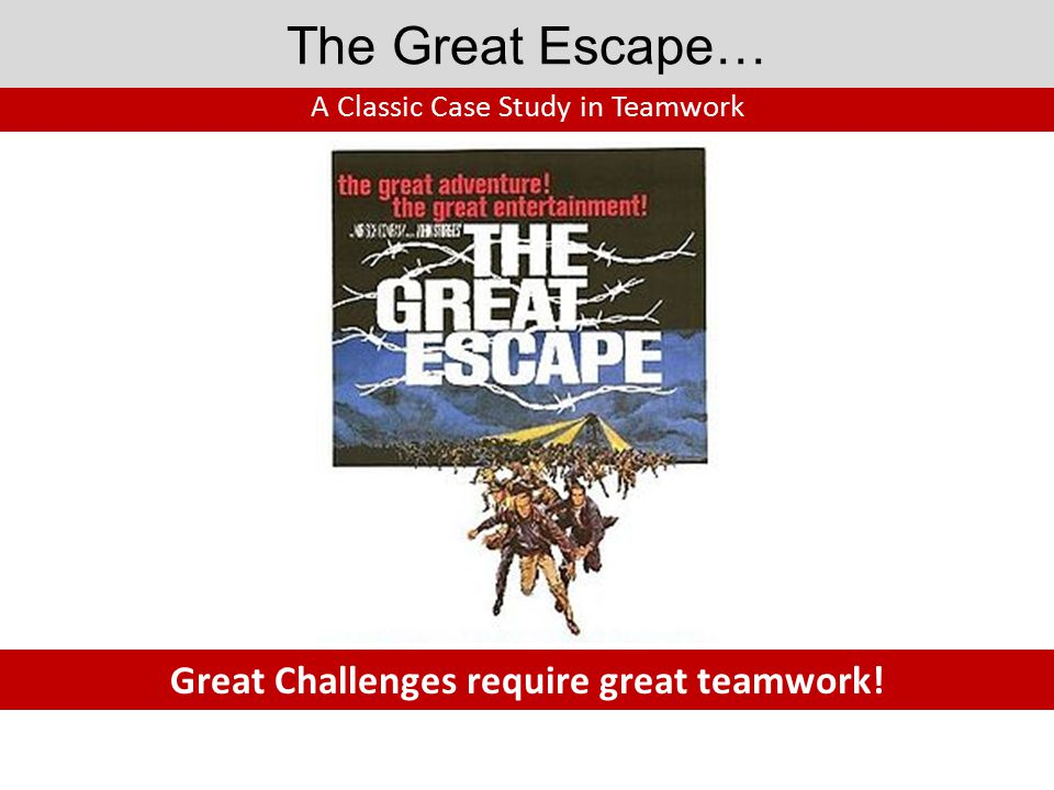 The Great Escape… When the first prisoner popped up out of the tunnel, he discovered that its exit was short of the woods.